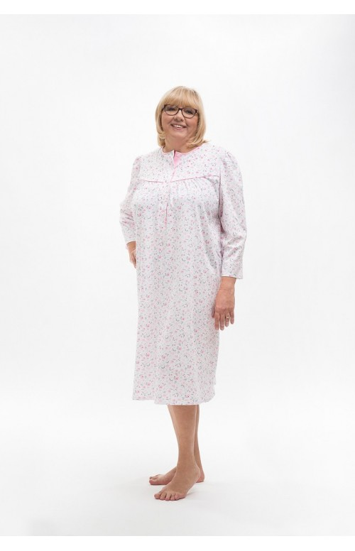 Damska koszula nocna z bawełny Martel Bogna II 204 dł/r M-2XL https://koronkowa.pl