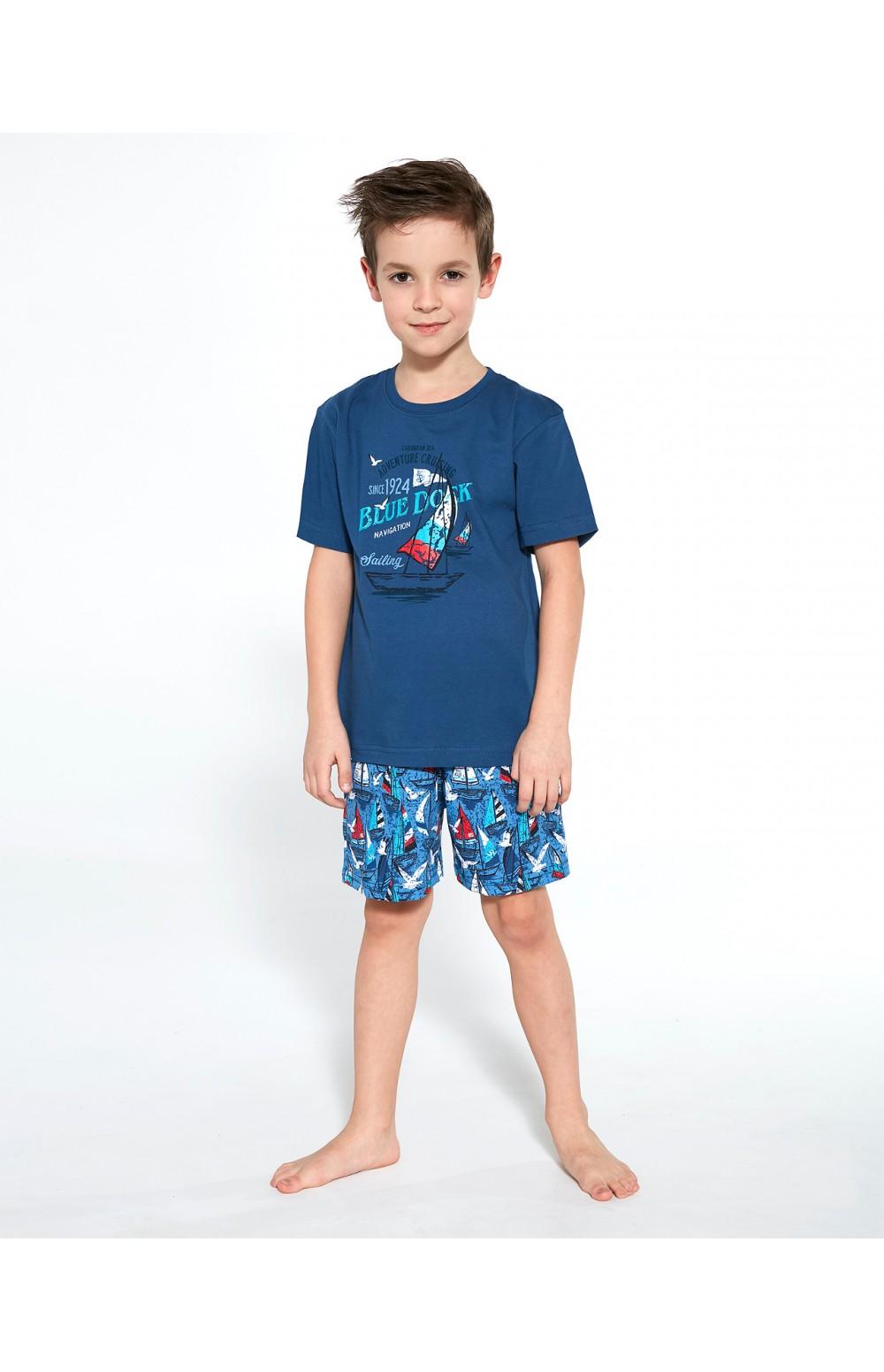 Piżama Cornette Kids Boy 789/96 Blue Dock kr/r 86-128