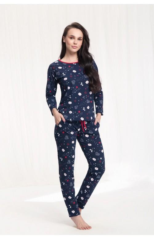 Piżama Luna 480 dł/r S-2XL damska